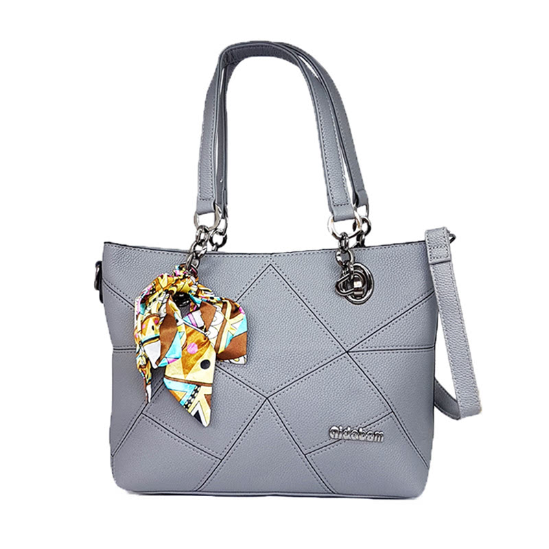Catriona By Cocolyn Shelby Shoulder Bag Grey