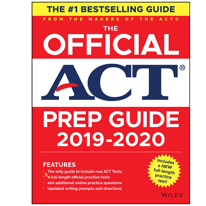 The Official ACT Prep Guide 2019-2020, (Book + 5 Practice Tests + Bonus Online Content) 1st Edition