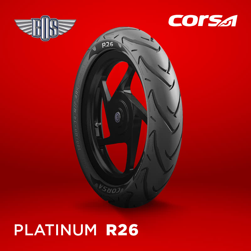 Ban Motor Corsa R26(Front)-70-80-17-Tubeless- GRATIS JASA PASANG