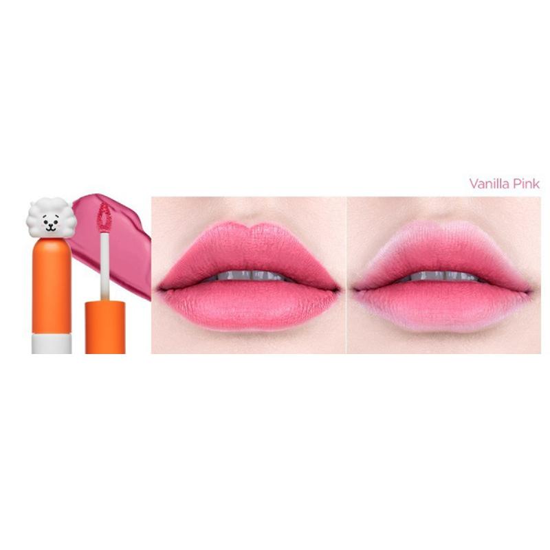 VT x BT21 Cream Lip Lacquer - 02 Vanilla Pink