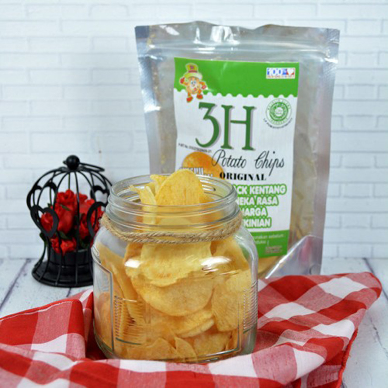 Potato Chips Rasa Original 100 gr (isi 2 Pack)