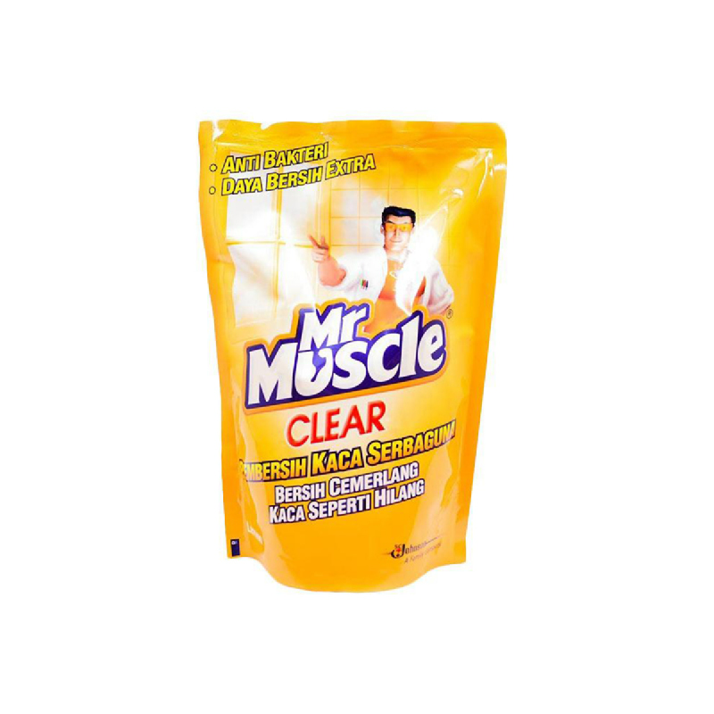Mr. Muscle Glass Cleaner Clear Lemon Pouch 440 Ml