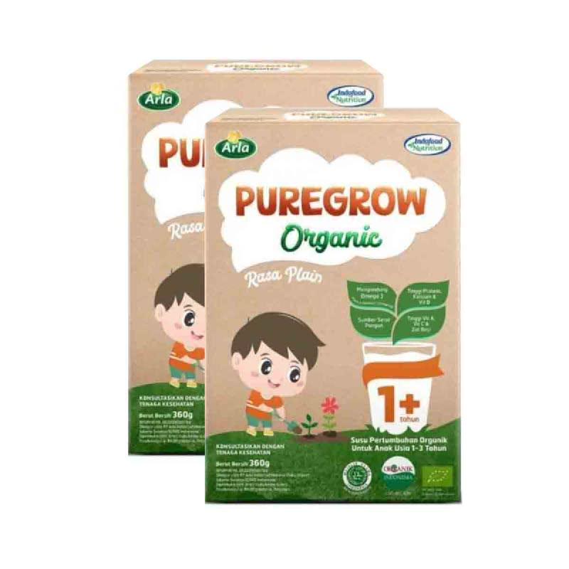 Arla Susu Bubuk Puregrow Boy 1+ 360 Gr (Buy 1 Get 1)