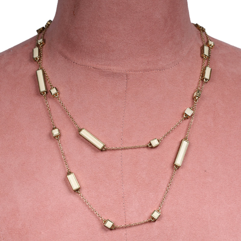 House of Harlow 1960 - The Long Rains Station Wrap Necklace Ivory