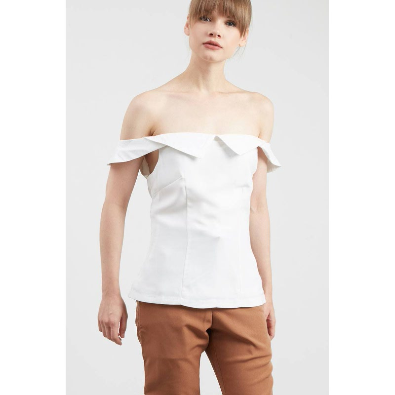 Indrani Off White Top