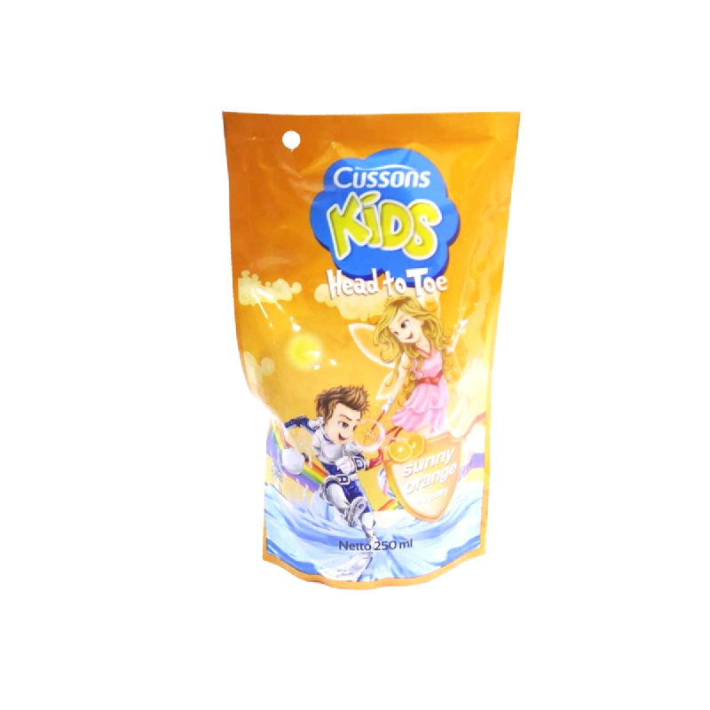 Cussons Kids Head To Toe Sunny Orange Pouch 250Ml