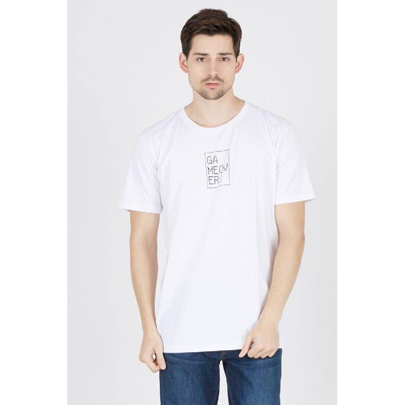 Mens T-Shirt Game Over White