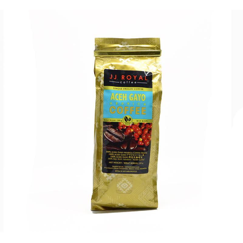 Jj Royal Biji Kopi Aceh Gayo Arabica Bag 200 Gr