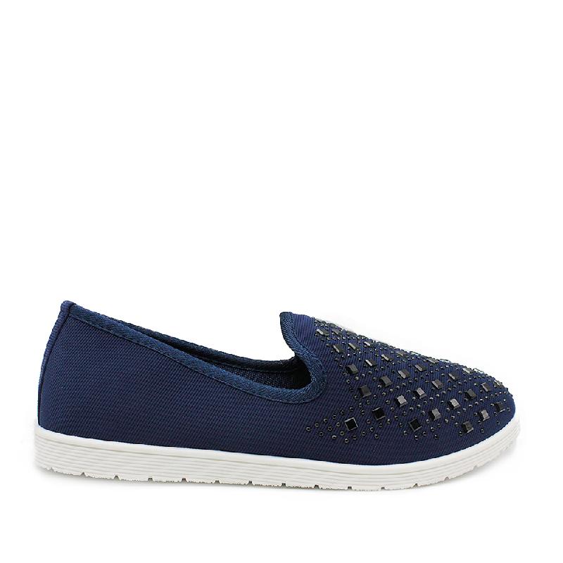 DEA Slip On Shoes 093 Beads Navy