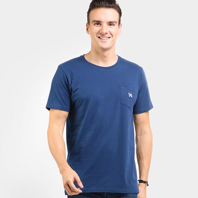 Mon Akita Antoine Men Tshirt Estate Blue