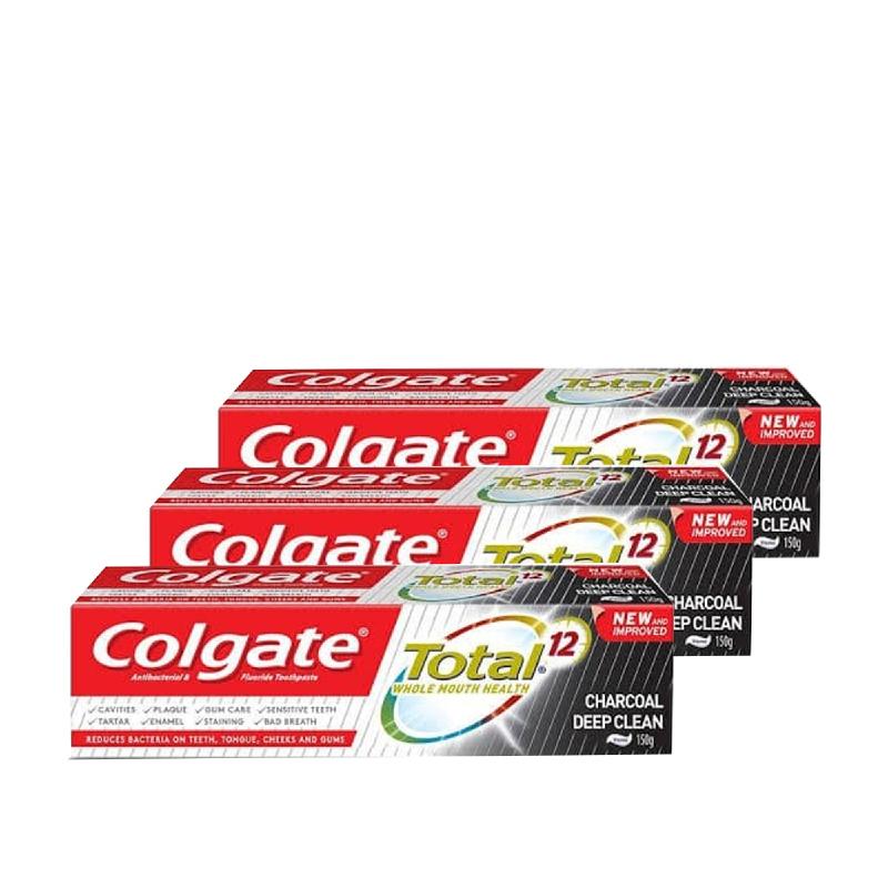 Colgate Total Charcoal 150Gr (Buy 2 Get 1)