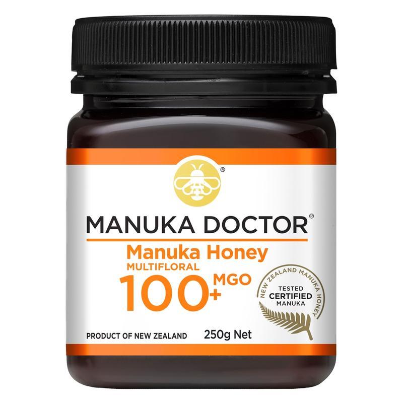 Manuka Doctor MGO 100+ Multifloral Manuka Honey 250 gr