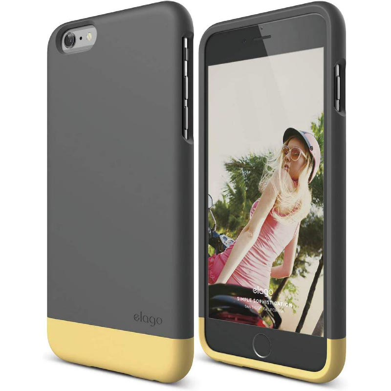 Elago Glide Case for iPhone SE, 5, 5S - SF Black + UV Yellow