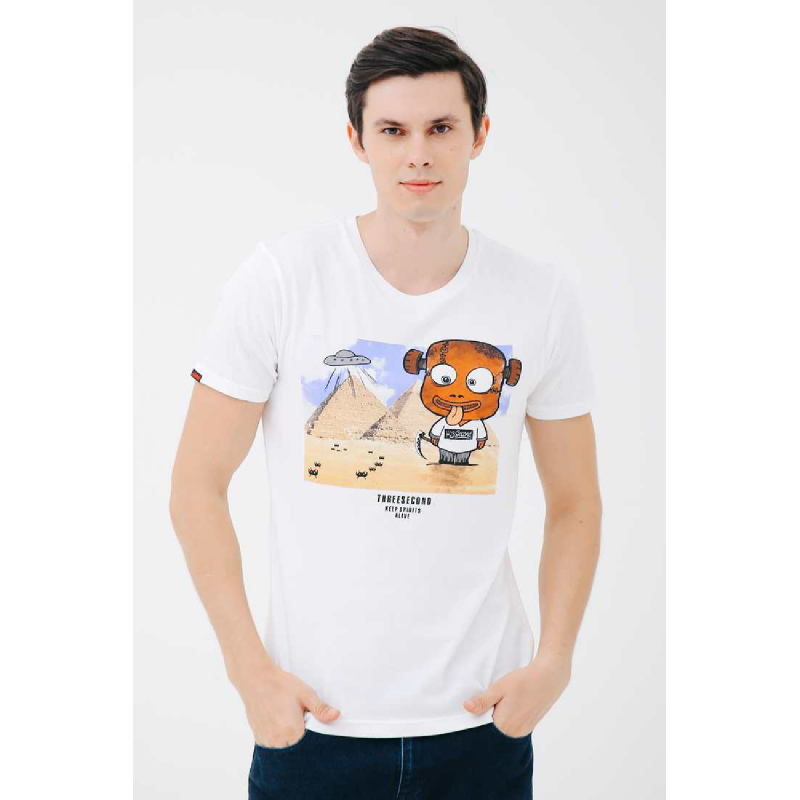 3Second Men Tshirt T0101 White