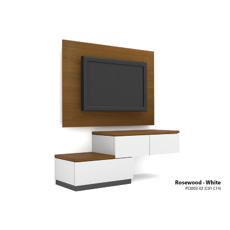 Case Cabinet TV Panel Rosewood - White PCI003-02-C14-C01