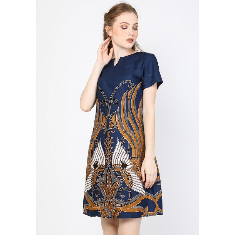 Aksa Batik Gracelia Dress Blue