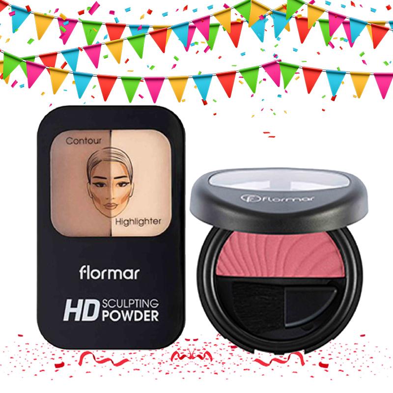 Flormar Sculpting HD Powder 01 Light + Blush On 093 Pink