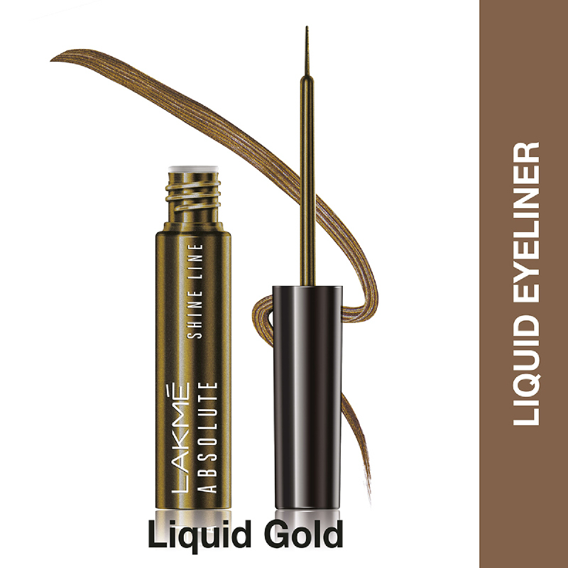 Lakme Absolute Reinvent Shine Line Eyeliner Gold