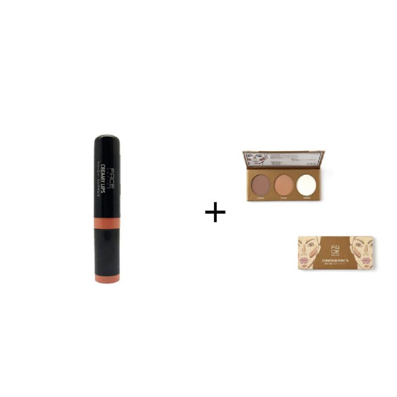 Face Recipe Creamy Lips Sienna Lip Gloss + Face Recipe Contour Effects