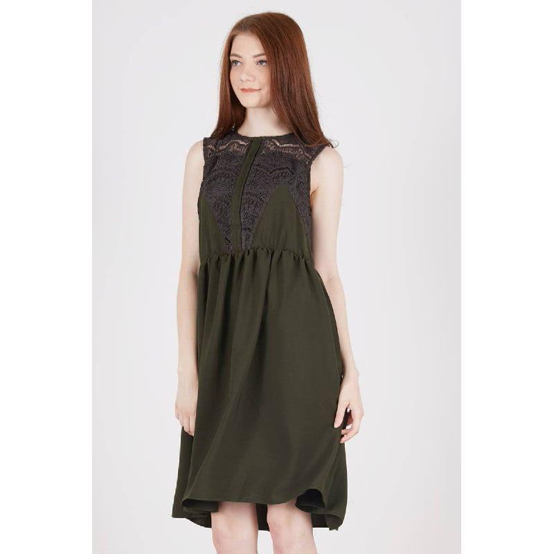 Reiji Lace Dress Green