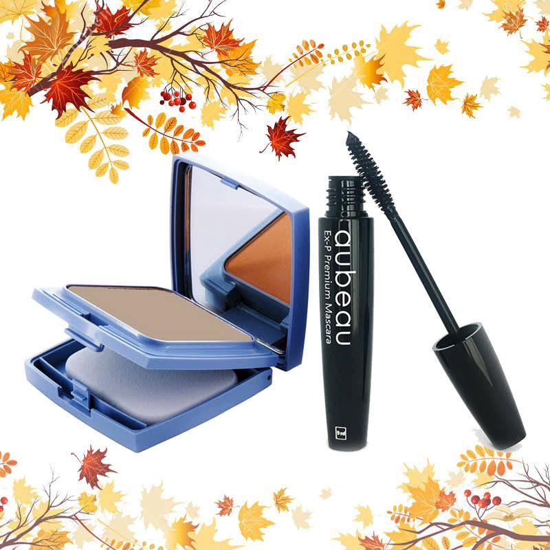 aubeau UV Lite Powdery Found 06 – Natural Beige + aubeau Ex-P Premium Mascara – Black