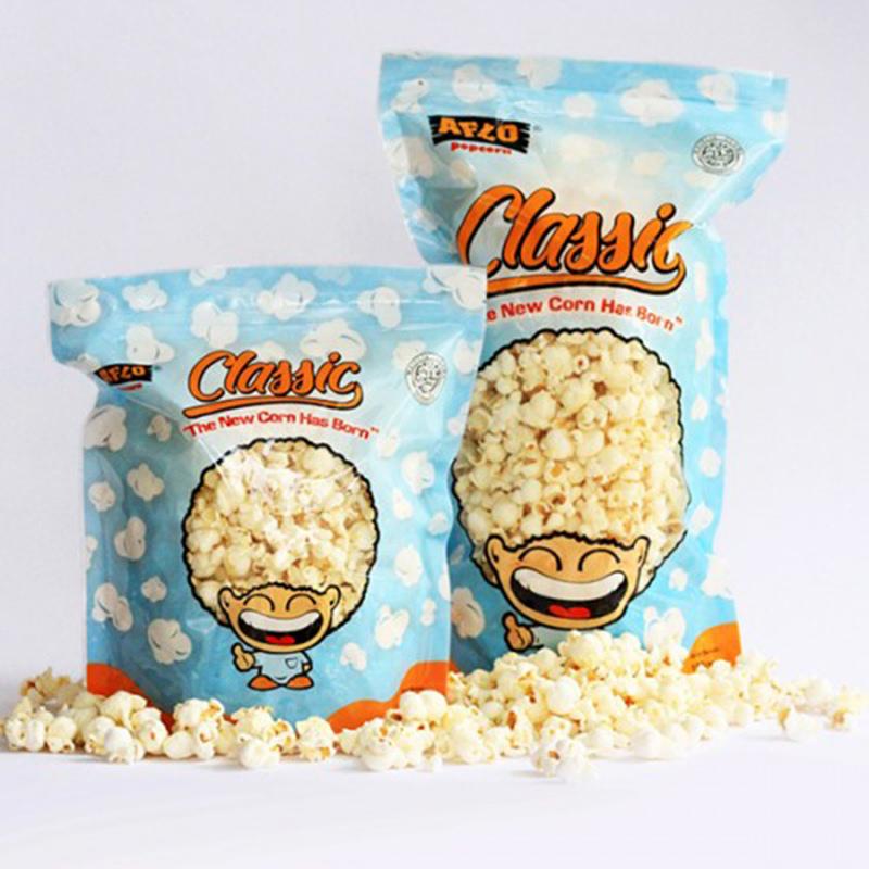 Alfo Popcorn - Aflo Classic Rumput Laut 100 gr (isi 2 Pack)
