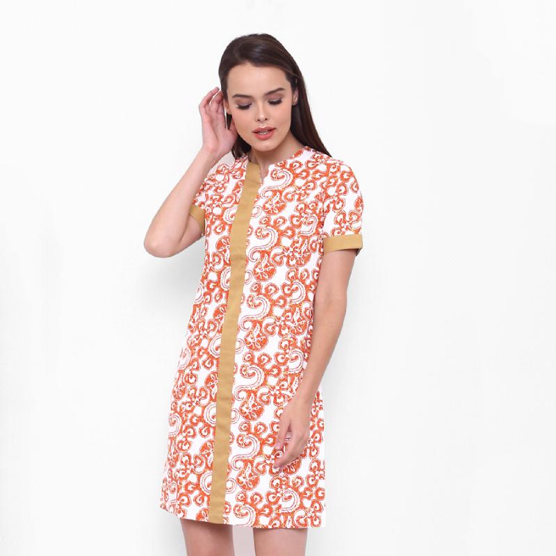 Asana Dress Batik Glie White
