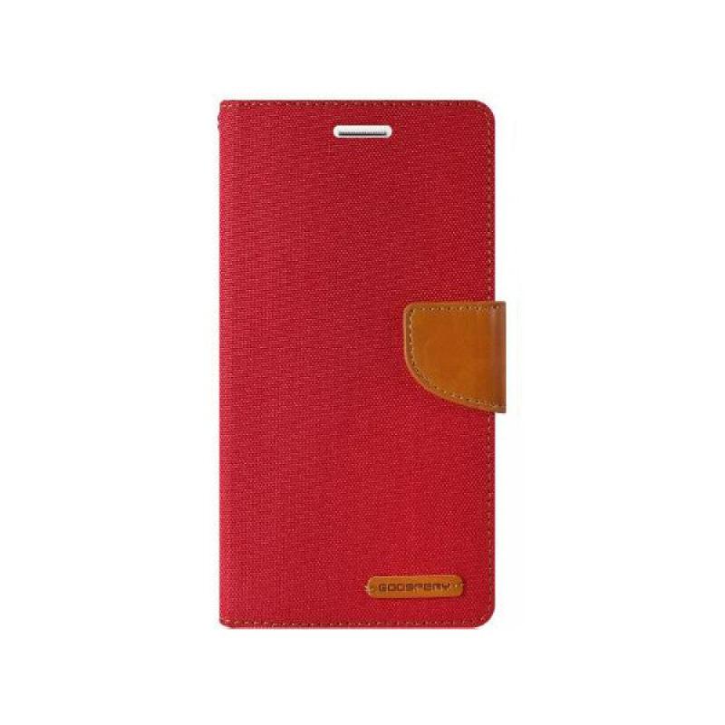 Goospery Canvas Diary Samsung Galaxy S7 Edge - Merah