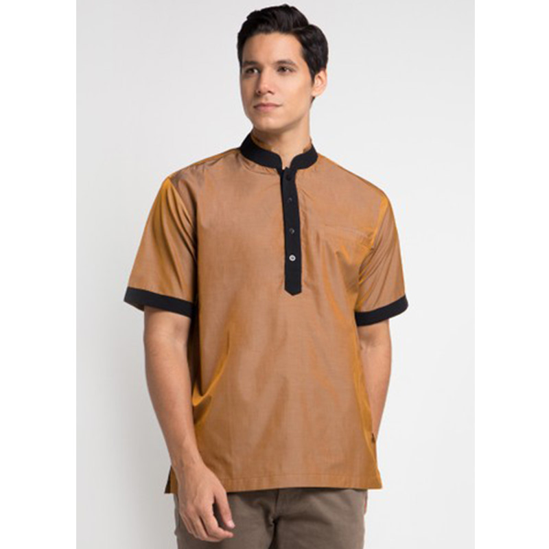 Magnificents Basic Koko Short Sleeve Shirt Brown