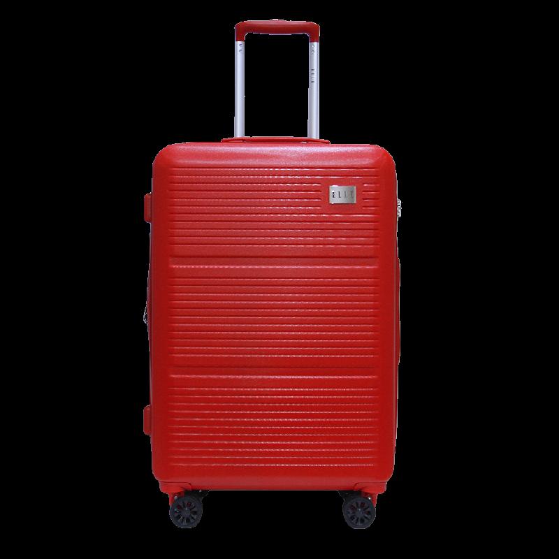 Elle Luggage Hardcase size 25 inch 4 Wheels TSA Lock Anti Theft Red