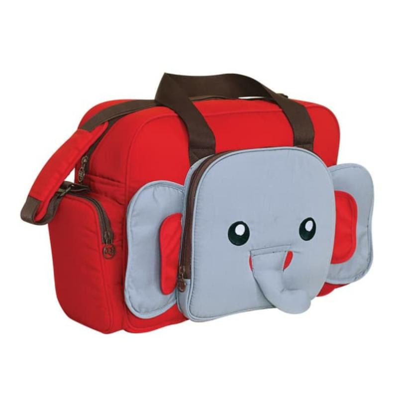 Baby 2 Go Diapers Bag  Animal Series Gajah B2T1301 Merah
