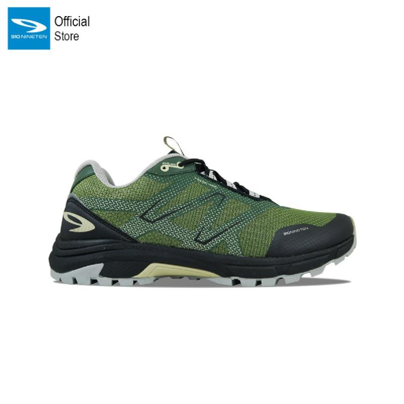 910 Nineten Yuza Sepatu Trail Run - Hijau Zaitun Khaki Hitam