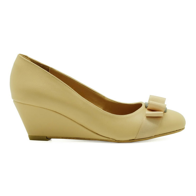 Apple Green Ivanka Wedges Beige