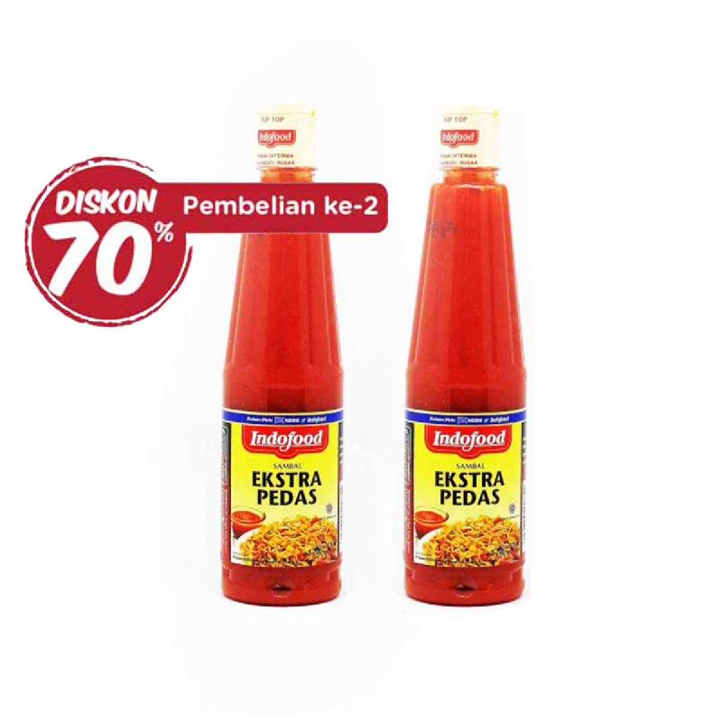 Indofood Sambal Extra Pedas 275 Ml (Pembelian ke-2 Diskon 70%)