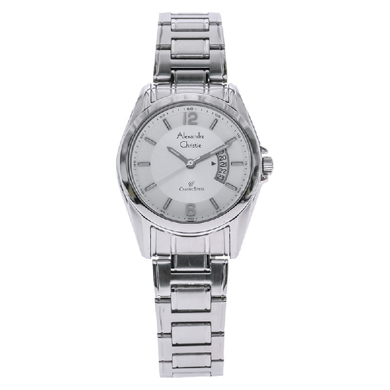 Alexandre Christie AC 8289 LD BSSSL White Dial Stainless Steel