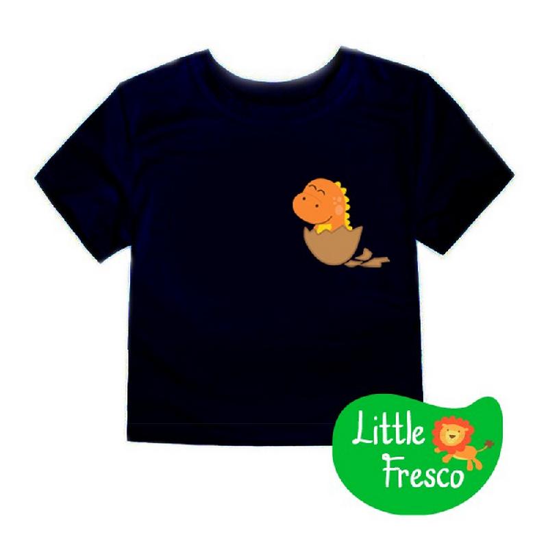 Little Fresco - Kaos Anak Baby Dino Hitam