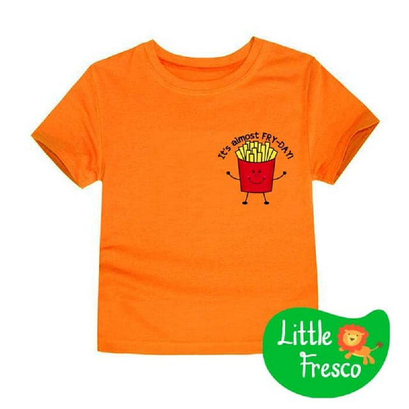 Little Fresco - Kaos Anak Fry Day Oranye Orange