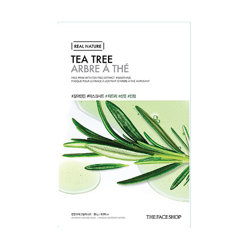 The Face Shop Real Nature Face Mask Tea Tree 2017