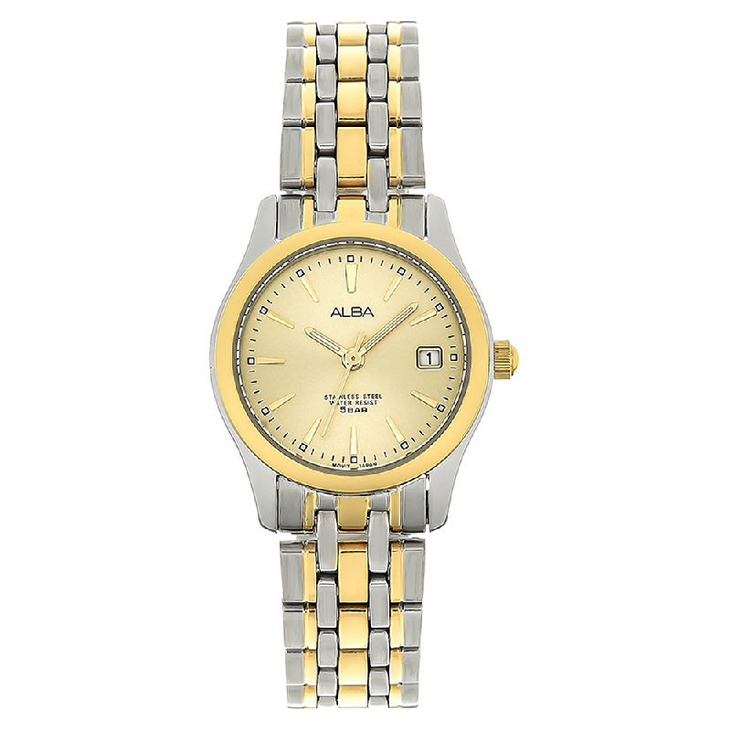 Alba AXT852X1 Ladies Gold Dial Dual Tone Stainless Steel