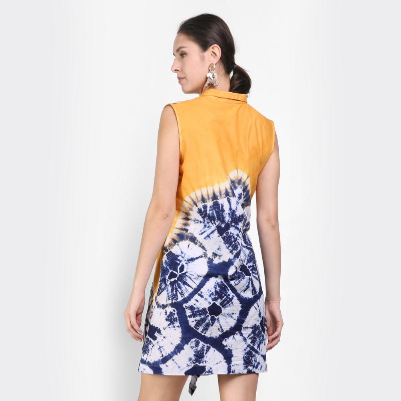 Goresan Warna Orange Dress
