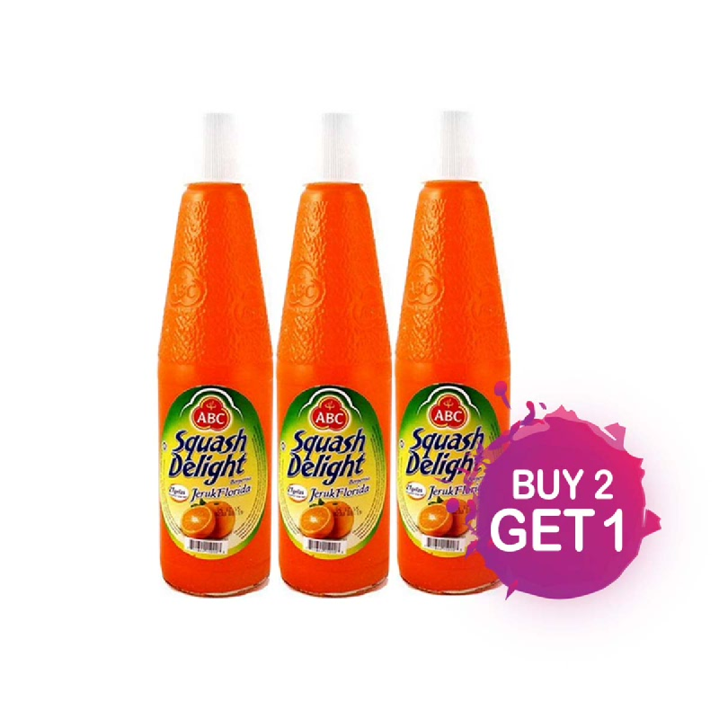 Abc Squash Sirup Orange Botol 460Ml (Buy 2 Get 1)