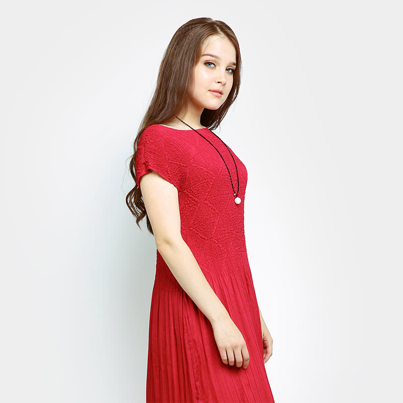 PLEATS KORA LONG DREES FOR PARTY