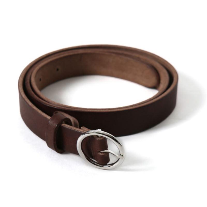 Original Leather Ring Buckle Belt Dark Brown