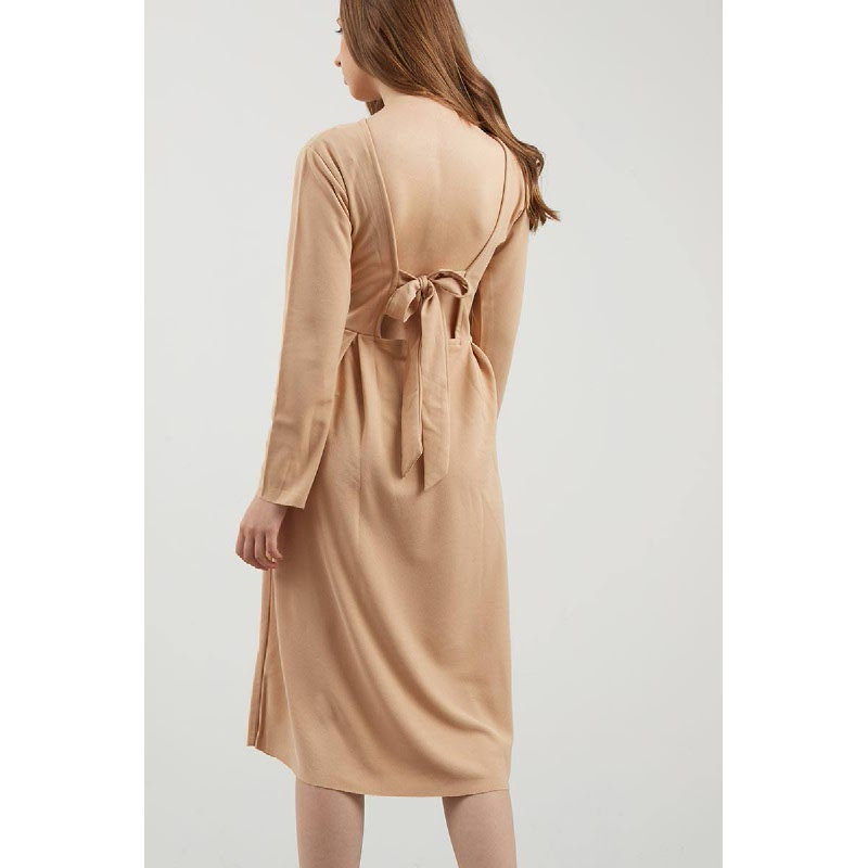 Gia Brown Knot Dress