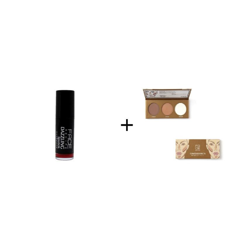 Face Recipe Dazzling Lipstick Caliente + Face Recipe Contour Effects
