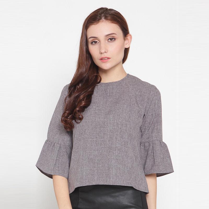 Nadya Bell Sleeves Top Grey