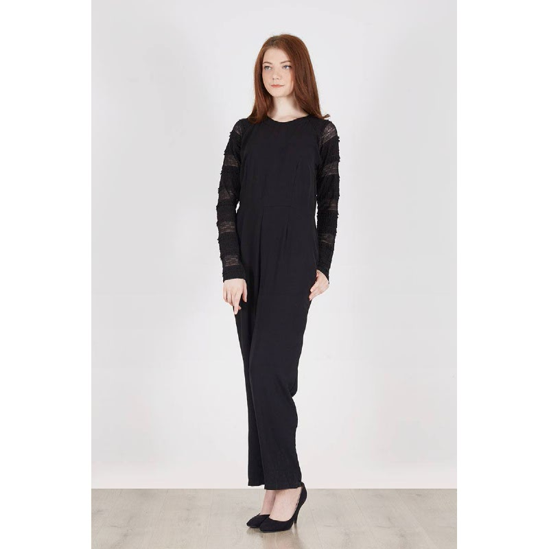 Raia Lace Jumpsuit Black