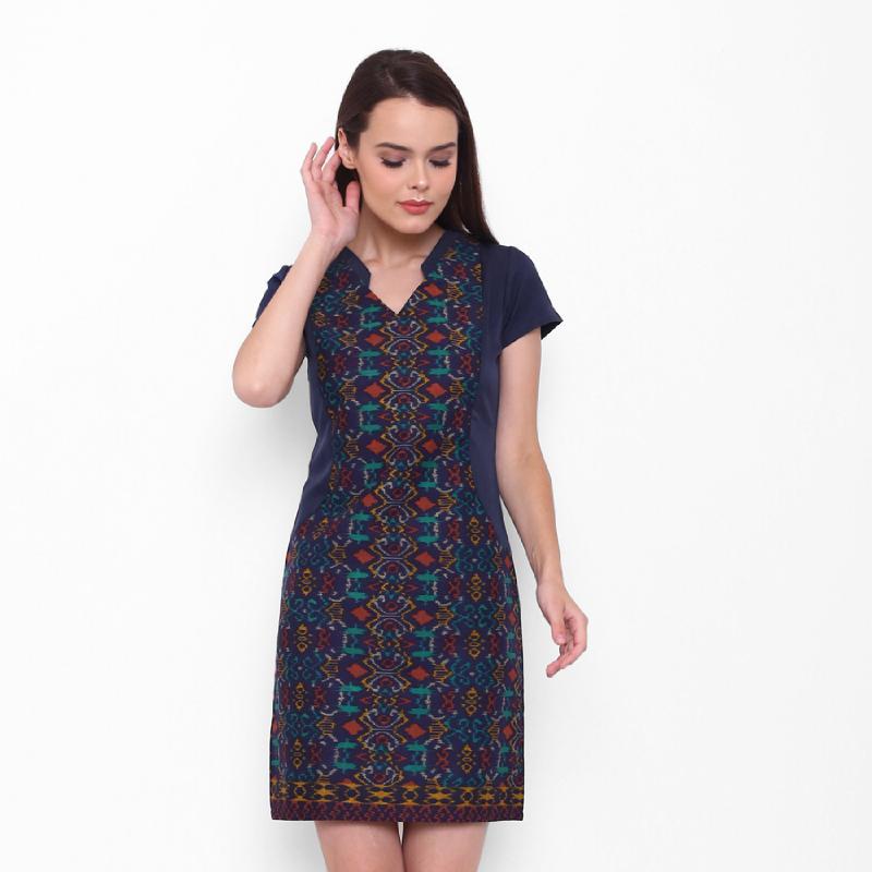 Asana Dress Batik Narra Navy