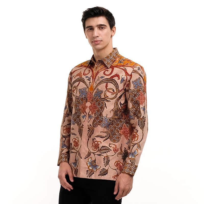 Batik Semar Full Fr Atbm Tl Brn Kasik Shirt Yellow