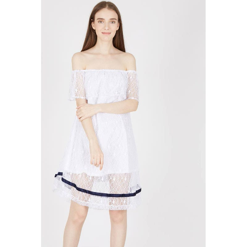 Heby White Dress